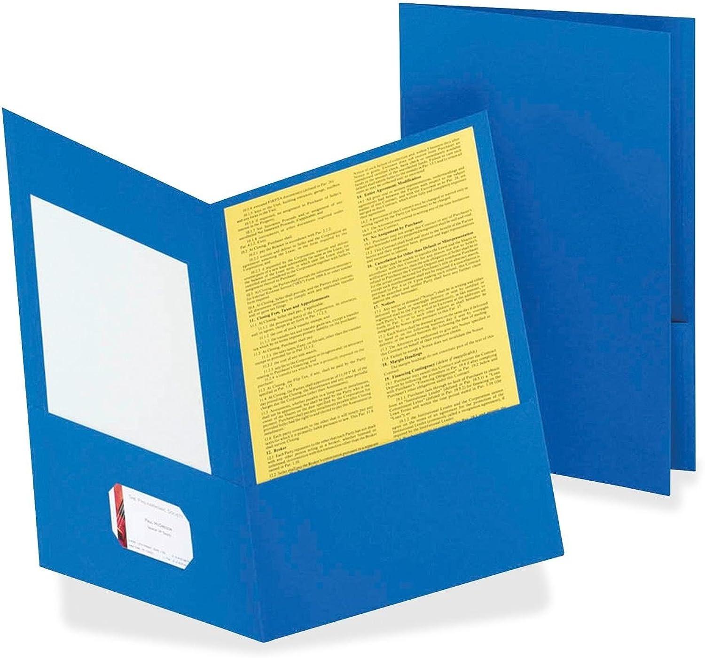 Twin-Pocket Folder, Legal, 100 Sheet Cap., 25 BX, Lt Blau, Sold as 1 Box B004HO3NMC | Online-Exportgeschäft