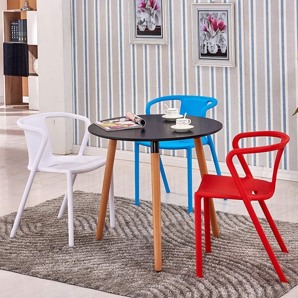 XXT Chaise de salle à manger simple, dossier créatif, chaise de loisirs, chaise de salle à manger pour adulte, durable (couleur : noir) Blanc