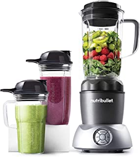 NutriBullet Select 1200 Watts, 12 Piece Set, Multi-Function High Speed Blender, Mixer System with Nutrient Extractor, Smoo...