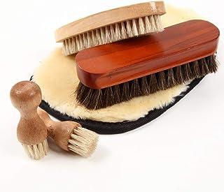 [FOOTSTEPS] 靴磨き ブラシ セット 馬毛ブラシ 豚毛ブラシ ペネトレイトブラシ ムートンクロス 収納麻袋付