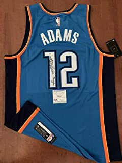Authentic Autographed Steven Adams Jersey Thunder Uprare PSA/DNA Authenticated