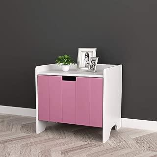 pink kids nightstand