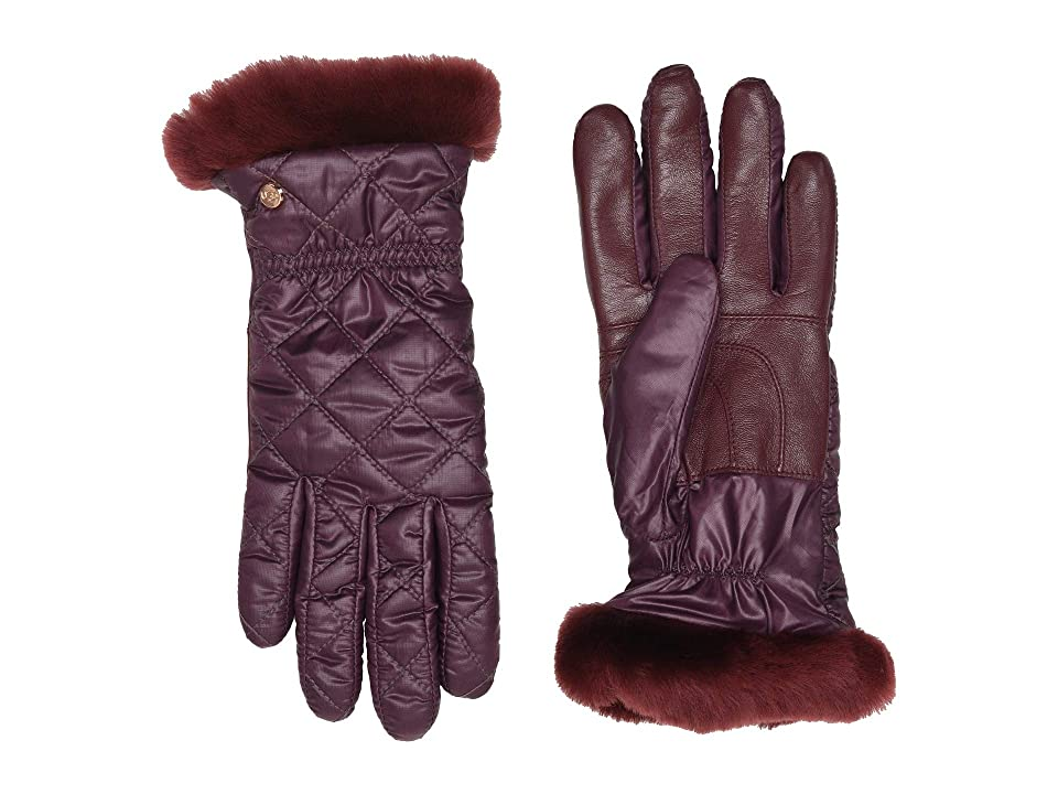 UGG Quilted All Weather Water Resistant Tech Gloves (Port) Extreme Cold Weather Gloves