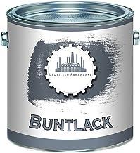 Lausitzer Farbwerke Buntlack traditioneller robuster Kunstharzlack bunte Lack-Farbe einfache Bearbeitung, hohe Qualität, schnelltrocknend, Universal-Lack 1 L, Anthrazitgrau RAL 7016