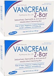 VANICREAM Z-Bar Medicated Cleansing Bar, 3.36 Oz (Pack of 2)