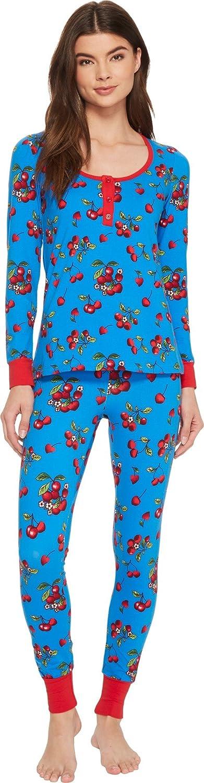 BedHead Womens Long Sleeve Henley TwoPiece Pajama Set