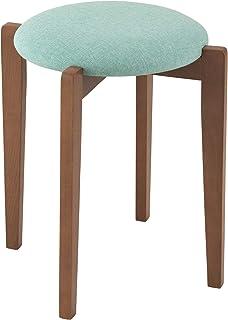 DOSHISHA 木制 凳子 天然木材 堆叠 时尚6种颜色 ブラウン×ライトブルー 幅40.5×奥行40.5×高さ46.5cm GRS-LBL