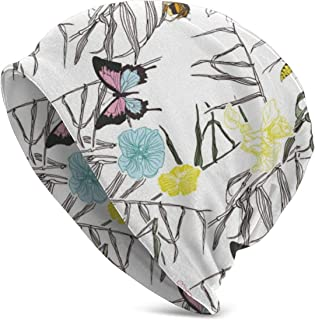 Butterfly Bee Classic Unisex Winter Warm Knitting Hats Beanie Hats Skull Cap Black