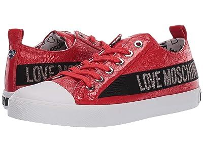 LOVE Moschino Logo Shoe (Rosso) Women