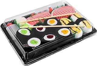 Rainbow Socks - Damen Herren - Sushi Socken Tamago Lachs 3x