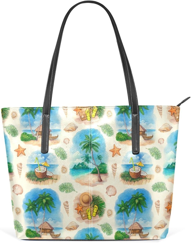 COOSUN Aquarell Seamless Pattern PU Leder Schultertasche Handtasche und Handtaschen Handtaschen Handtaschen Tasche für Frauen B076BLDPDM 5c355f
