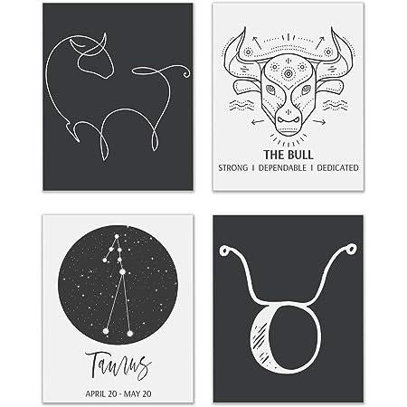 wall art for the astrology geek taurus zodiac art Zodiac wall decor Taurus star sign print Star sign wall art astro lover