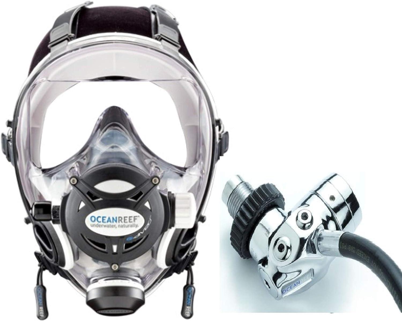 OCEAN REEF G. Divers Deluxe Full Deluxe Face 1st White Regulato Stage Mask