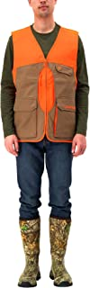 Men's Upland Hunting Vest with Stain Resistant Game Bag | Wind & Water-Resistant | Orange
