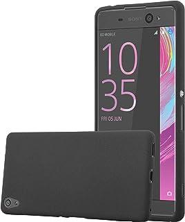 473a5ac9671 Cadorabo Funda para Sony Xperia XA Ultra en Frost Negro - Cubierta  Proteccíon de Silicona TPU