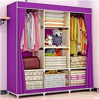 Armoire en tissu Meubles de rangement portables de bricolage non tissé for le quart de garde-robe armoire meuble armoire a...
