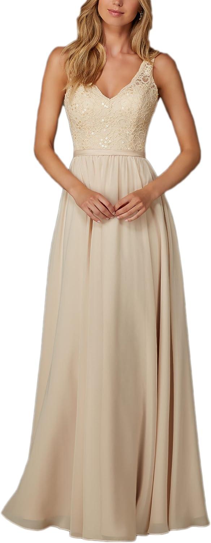 AK Beauty Women's Aline VNeck Bridesmaid Dresses