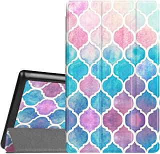 Fintie Slim Case for All-New Amazon Fire HD 8 Tablet (7th and 8th Generation Tablets, 2017 and 2018 Releases), Ultra Lightweight Slim Shell Standing Cover with Auto Wake/Sleep, Moroccan Love