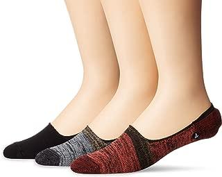 Men's 3 Pack Skimmer No Show Liner Socks, brick assorted, Shoe Size: 6-12