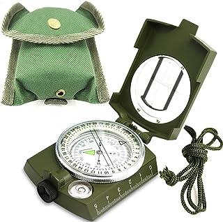 ydfagak kompas, wandelen, waterdicht, militair navigatiekompas met fluorescerend design, perfect voor kamperen, wandelen e...