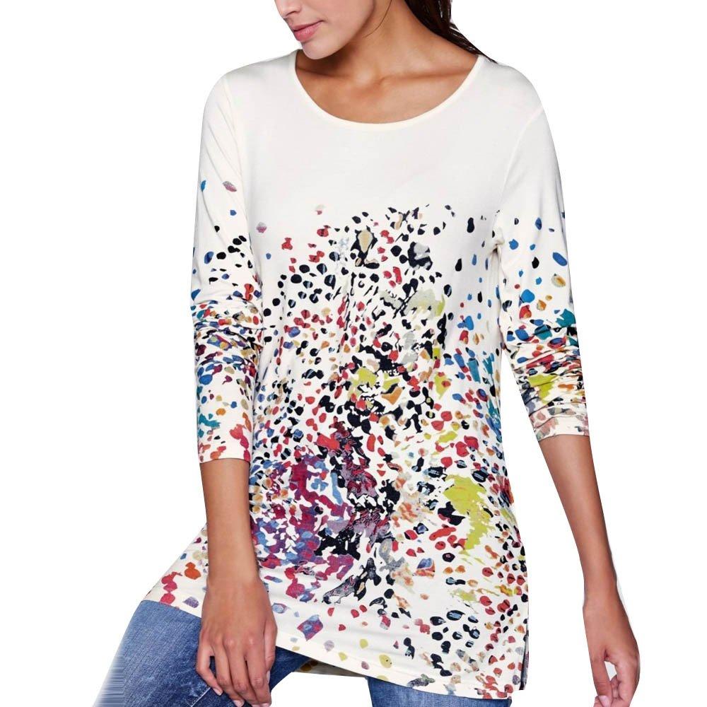 Camisetas De Fiesta Mujer Elegantes Ronamick Moda Mujer Blusa Talla Grande Mujer Tops De Mujer Moda Mujer Camisa Caza (Blanco,S): Amazon.es: Iluminación