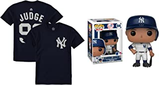 Outerstuff Aaron Judge New York Yankees #99 Youth Player T-Shirt with Funko Pop Figure (Youth X-Large 18/20)