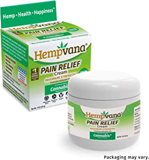 Hempvana Pain Relief Cream with Cannabis Seed Extract Relieves Inflammation, Muscle, Joint, Back, Knee, Nerves and Arthritis Pain – Made in USA 4oz Phthalate Free, Paraben Free, Vegan, Cruelty-Free