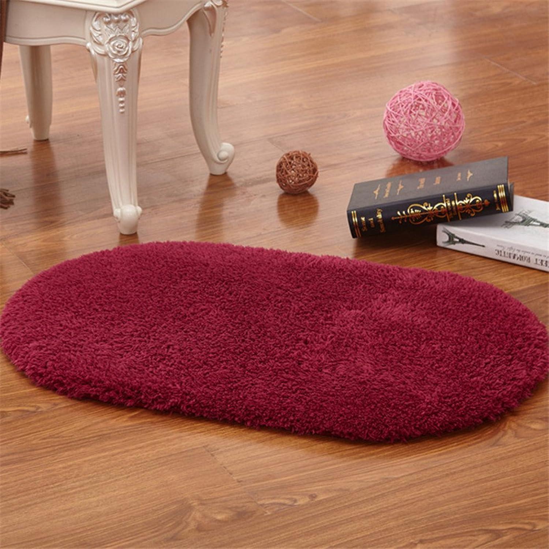 Oval bathroom absorbent non-slip carpet door mat floor mats-H 120x160cm(47x63inch)