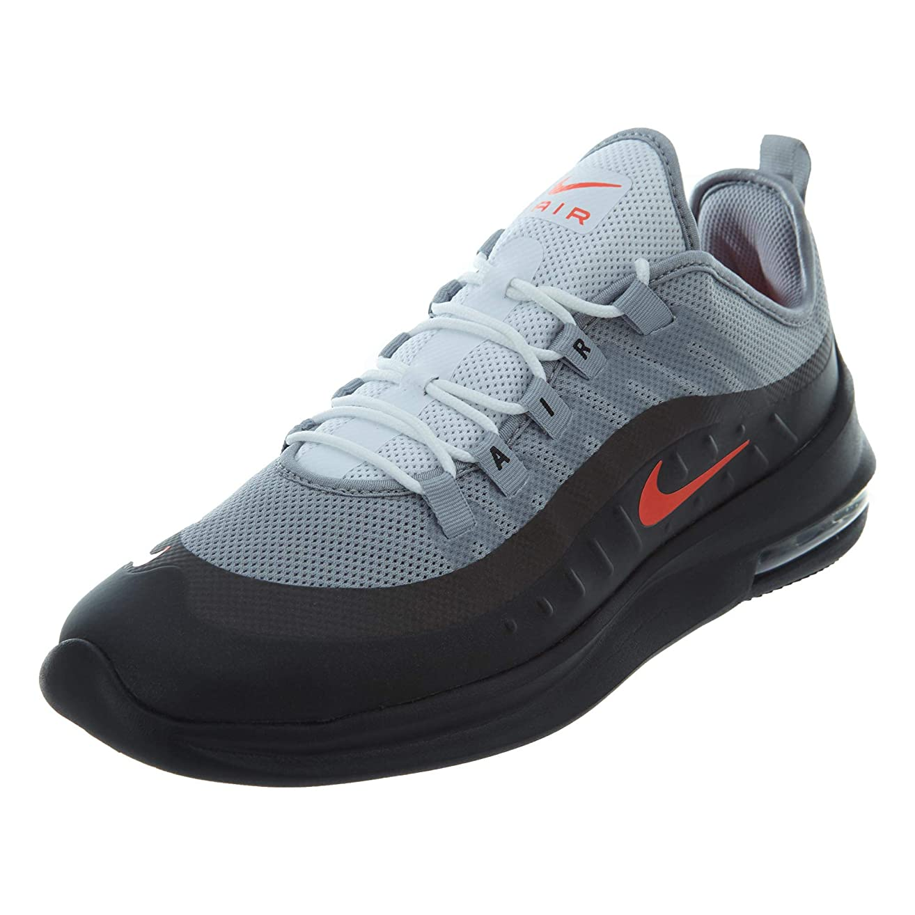 Nike Men's Air Max Axis Running Shoe, Wolf Grey/Total Crimson/Black/Anthracite, Size 10
