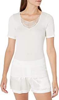 Hanro Women's Adina Short Sleeve Shirt Camisole