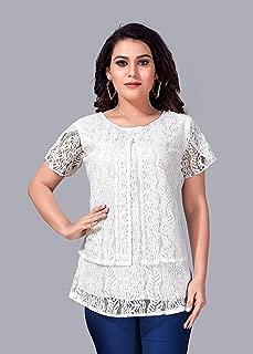 Comet Enterprise Women's Polyester Regular Fit Top White