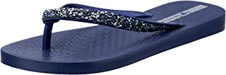 IPANEMA Metallic Strap Womens thongs, Blue, 10 US