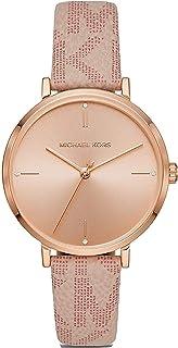 Women's Jayne Three-Hand Rose Gold-Tone Alloy Watch MK7130