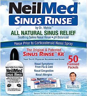 NeilMed Sinus Rinse - A Complete Sinus Nasal Rinse Kit, Pack of 2