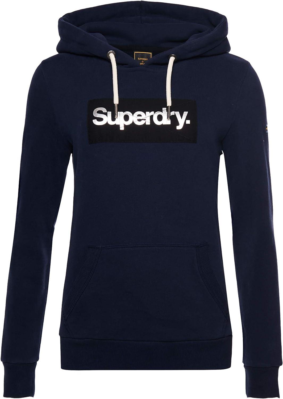 Superdry Core Logo Hoodie Be super welcome Metallic Wholesale