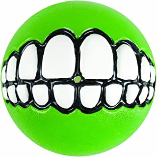 Rogz Fun Dog Treat Ball in various sizes and colors, Medium, Lime