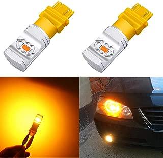 Alla Lighting 3800lm T25 3156 3157 Amber Yellow LED Bulbs Xtreme Super Bright 4114 4157 3457 4057 3157 LED Bulb High Power ETI 56-SMD 12V LED 3157 Bulb for Car Truck Turn Signal Blinker Lights (2pcs)