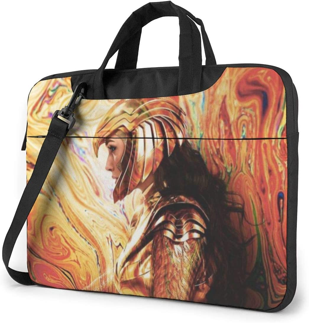 NDSXTLCA Wonder-Woman 1984 17.3-Inch Laptop Shoulder Sleeve Bag Case with Handle for 17 17.3 Acer Dell Hp Classic Colorful 15.6 inch