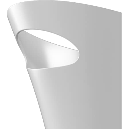 UMBRA Skinny Can. Corbeille Skinny. 7.5L dimension 34x17x33cm. En plastique moulé, coloris blanc métallique.