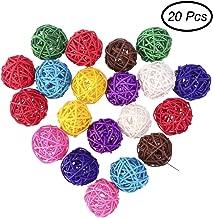 Taille Unique Rose Faderr Lot de 7 Boules de rotin d/écoratives en Osier pour Artisanat d/écoration de No/ël f/ête Mariage