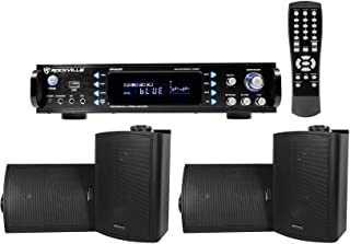 Rockville 1000w Home Theater Bluetooth Receiver+(4) Speakers w/Swivel Brackets