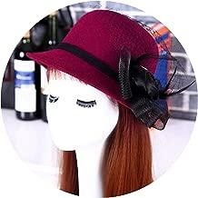 Heart .Attack Women Beach Retro Wool Felt Bowler Floral Hat Autumn Winter Bucket Caps for Woman