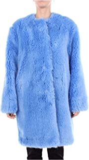 MSGM Luxury Fashion Womens 2541MDC23X18462584 Light Blue Coat   Season Outlet
