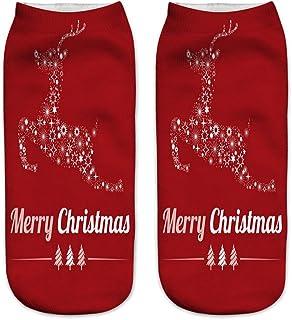 Christmas Socks,3D Printed Women Casual Cute Unisex Low Cut Ankle Socks