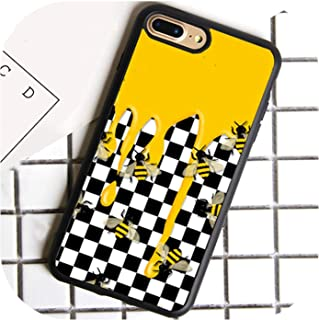 Checkered Checkerboard Flame Phone Case for iPhone 7 8 6 6S Plus X 5 5S Se Cover TPU Black Case for iPhone Xr Xs Max,for iPhone 7 Plus,7000,7003,Foriphonexr