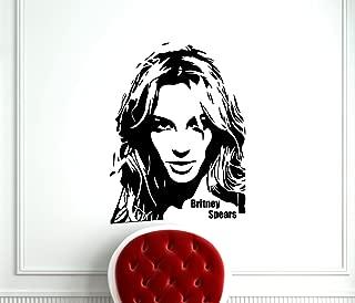 Britney Spears Decal Pop Star Music Wall Vinyl Sticker Home Interior Murals Art Decoration TT415