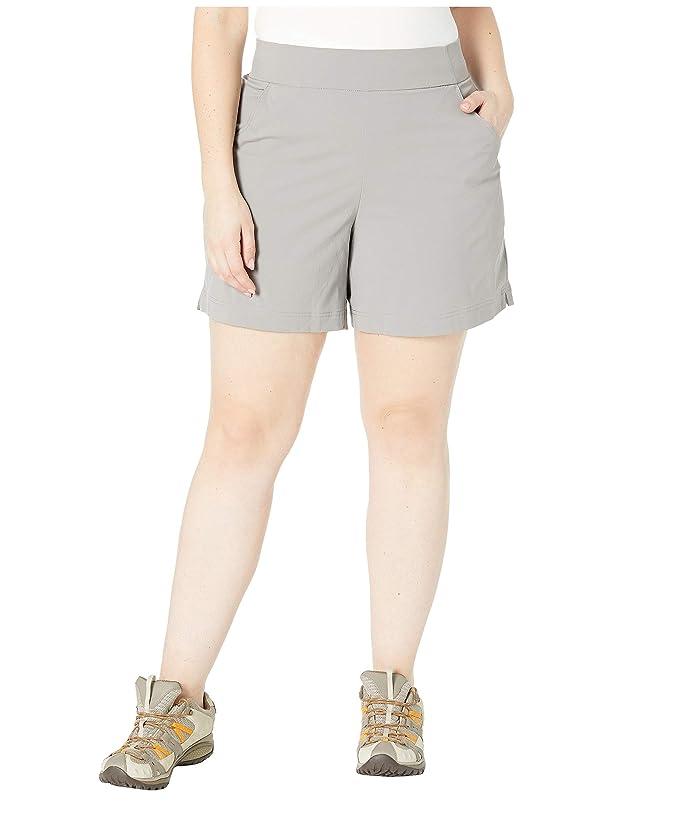 Columbia Plus Size Anytime Casualtm Shorts (Light Grey) Women
