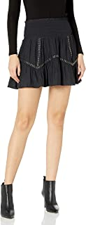 Women's Cora Mini Ruffle Skirt with Embellishment