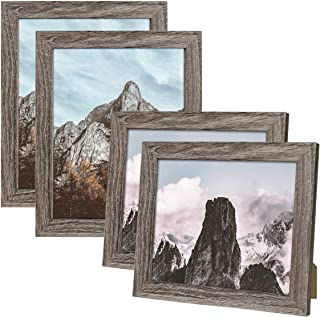 NUOLAN Picture Frame, Wood, Grey, 8x10