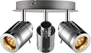 Plafonnier LED pour salle de bain - Protection IP44-3 W GU10 230 V - Blanc chaud - Pivotant et orientable - Pour salle de ...
